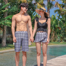 Split swimsuit Tongtong swimsuit Men's, women's M,L,XL Triangle swimsuit With chest pad without steel support Nylon, spandex female