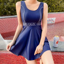 Split swimsuit Tongtong swimsuit blue M,L,XL With chest pad without steel support