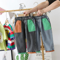 trousers Other / other male 90cm,100cm,110cm,120cm,130cm,140cm Denim blue, black grey summer trousers leisure time No model Leather belt Open crotch 12 months, 18 months, 2 years old, 3 years old, 4 years old, 5 years old, 6 years old, 7 years old Chinese Mainland