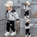 Plain coat Other / other male 80cm,90cm,100cm,110cm,120cm,130cm,140cm silvery spring and autumn leisure time Zipper shirt There are models in the real shooting routine No detachable cap other
