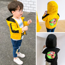 Plain coat Other / other neutral 80 for one year old, 90 for two years old, 100 for three years old, 110 for four years old, 120 for five years old, 130 for six years old Black / dog jacket yellow / dog jacket spring and autumn leisure time Zipper shirt There are models in the real shooting routine