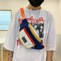 Men's bag Chest pack Nylon  brand new leisure time Street trend zipper soft Small no written words Single root youth Dumpling shape polyester fiber Color contrast Inner patch pocket