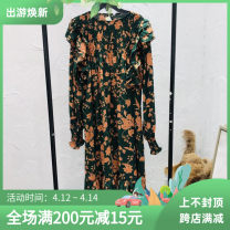 Dress Spring 2021 Picture color Average size Mid length dress singleton  Long sleeves street Crew neck Loose waist Dot Socket routine Type H 31% (inclusive) - 50% (inclusive)