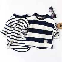 T-shirt xiailebaby 90cm,100cm,110cm,120cm,130cm,140cm male spring and autumn Long sleeves Crew neck leisure time No model nothing cotton Cotton 95% polyester 5% Class B 18 months, 2 years old, 3 years old, 4 years old, 5 years old, 6 years old, 7 years old, 8 years old