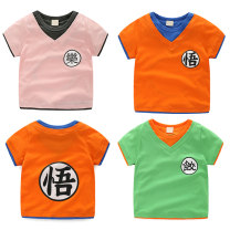 T-shirt Other / other male summer Short sleeve Crew neck Korean version No model nothing cotton Cartoon animation Cotton 100% Class B Quick drying 18 months, 2 years old, 3 years old, 4 years old, 5 years old, 6 years old, 7 years old