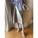 skirt Summer 2021 S,M,L Silver skin Mid length dress commute High waist other Solid color Type H 25-29 years old 81% (inclusive) - 90% (inclusive) other No foam PU 401g / m ^ 2 (inclusive) - 500g / m ^ 2 (inclusive)
