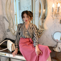 skirt Spring 2020 S,M,L Pink, blue longuette commute High waist skirt Solid color Type A 25-29 years old 51% (inclusive) - 70% (inclusive) other No foam polyester fiber Simplicity