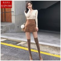 skirt Spring 2020 XXS,XS,S,M,L,XL Dark Khaki Skirt, black skirt, light Khaki top Short skirt Versatile High waist Ruffle Skirt Solid color Type A 18-24 years old FC8F0D070 91% (inclusive) - 95% (inclusive) Deer skin 301g / m ^ 2 (including) - 350g / m ^ 2 (including)