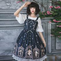 Dress Autumn of 2018 S,M,L,XL Mid length dress singleton  Sweet Lotus leaf collar High waist Decor Socket Princess Dress Princess sleeve camisole 18-24 years old A-13-01 Chiffon polyester fiber