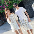 Couple swimsuit other XXL,XL,L,M Women's three piece suit, men's beach pants Polyester, nylon currency