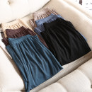 Women's large Summer 2020 Black, malachite blue, dark coffee, light coffee, dark blue, beige Large XL, large 2XL, large 3XL, large 4XL trousers commute Straight cylinder thin Solid color Korean version other 81% (inclusive) - 90% (inclusive) trousers