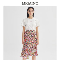 Fashion suit Summer 2021 150/76A/XS 155/80A/S 160/84A/M 165/88A/L 170/92A/XL Foundation flower 25-35 years old Migaino / manyanu 51% (inclusive) - 70% (inclusive) nylon Polyamide fiber (nylon) 52.4% viscose fiber (viscose) 47.6% Same model in shopping mall (sold online and offline)