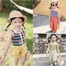 Vest sling camisole summer Maidou story female Official pictures Korean version stripe Crew neck nothing Cotton blended fabric Class B 2 years old, 3 years old, 4 years old, 5 years old, 6 years old, 7 years old, 8 years old