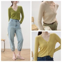 Wool knitwear Summer 2020 Average size Light purple, light blue, yellow, apricot, black, Avocado Green Long sleeves singleton  Cardigan other 30% and below have cash less than that is registered in the accounts Thin money commute Straight cylinder V-neck routine Solid color Single breasted Simplicity