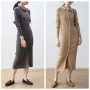 Dress Autumn 2020 Camel, grey, black, beige, bean green Average size Mid length dress singleton  Long sleeves commute Polo collar Solid color Single breasted routine Simplicity 30% and below other