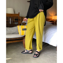 Women's large Spring 2021 yellow Large XL, 2XL, 3XL, 4XL trousers singleton  commute easy moderate Solid color Simplicity Three dimensional cutting Qbxx studio / pencil Xiaoxin 51% (inclusive) - 70% (inclusive) trousers