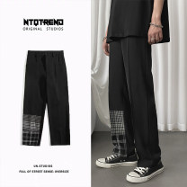 Casual pants Zijun Youth fashion Black, > Click to view size < (select color in front) M,L,XL,2XL routine trousers Other leisure easy Micro bomb summer teenagers tide 2020 Medium low back Straight cylinder other