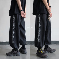 Casual pants Zijun Youth fashion Black, grey, blue, dark grey B, black B, light grey B M,L,XL,2XL routine trousers Other leisure easy Micro bomb summer teenagers tide 2020 Medium low back Little feet No iron treatment other other