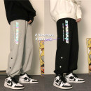 Casual pants Zijun Youth fashion Black, gray, > Click to view size < (select color in front) M,L,XL,2XL routine trousers Other leisure easy Micro bomb autumn teenagers tide 2020 middle-waisted Little feet Haren pants pocket cotton