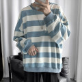 Sweater Youth fashion Zijun S,M,L,XL,2XL stripe Socket routine Crew neck autumn easy leisure time teenagers like a breath of fresh air routine Fleece  Save pocket Oblique lapel