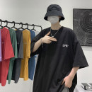 T-shirt Youth fashion Black, white, gray, red, yellow, blue, purple, green, > Click to view the size < (select the color before) routine M,L,XL,2XL Zijun Short sleeve Crew neck easy Other leisure summer teenagers routine like a breath of fresh air 2021 Solid color