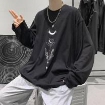 T-shirt Youth fashion routine M,L,XL Zijun Long sleeves Crew neck easy Other leisure autumn teenagers routine tide 2020 Animal design printing cotton No iron treatment
