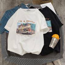 T-shirt Youth fashion routine M,L,XL,2XL Zijun Short sleeve Crew neck standard Other leisure summer teenagers routine tide 2019