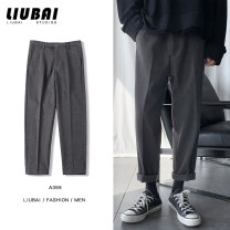 Casual pants Zijun Youth fashion M,L,XL,2XL routine trousers Other leisure easy Micro bomb Four seasons teenagers tide 2020 middle-waisted Little feet Sports pants Pocket decoration No iron treatment Solid color other cotton