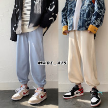 Casual pants Zijun Youth fashion Black, white, gray, pink, green, blue, khaki, > Click to view size < (select color before) M,L,XL,2XL routine trousers Other leisure easy spring teenagers tide 2021 Solid color