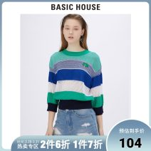 Jeans Summer of 2019 blue shorts Natural waist Straight pants 25-29 years old Basic house Cotton 100% Same model in shopping mall (sold online and offline)