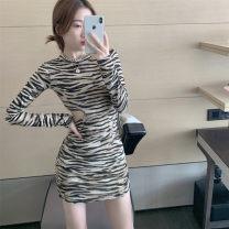 Dress Winter 2020 Picture color S,M,L 8650#