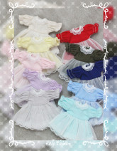 BJD doll zone Dress 1/12 Over 14 years old Customized Army green, sky blue, beige, light gray, light green, light yellow, pink, pink purple, red, dark blue