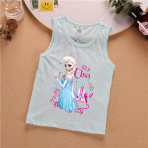 Vest sling Sleeveless 90,100,110,120,130,140 summer Other / other female Official pictures lady Cartoon animation Crew neck nothing Pure cotton (95% and above) Cotton 100% MMQ bamboo cotton vest 14 Castle Aisha Class A Chinese Mainland Guangdong Province Dongguan City