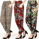 Casual pants Average size (within 90-160 kg), plus size (within 120-200 kg) Summer of 2019 Ninth pants Knickerbockers High waist Other styles Thin money Other / other other printing and dyeing