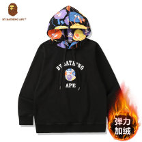 Sweater Youth fashion Doenu / daeno Black and white S M L XL 2XL Animal design Socket routine Hood autumn easy leisure time teenagers tide routine other Cotton 100% cotton printing No iron treatment Winter 2020 More than 95% Kangaroo pocket Pure e-commerce (online only) Japanese and Korean style