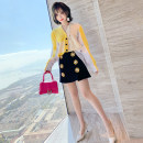 Fashion suit Spring 2021 XS,S,M,L,XL,2XL,3XL Yellow with white + Black miuco C0801S1119