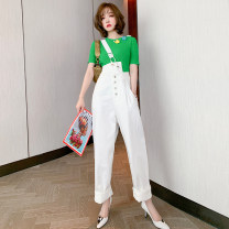 Jeans Spring 2021 white XS,S,M,L,XL,2XL,3XL trousers High waist rompers P0552 miuco