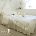 Bedding Set / four piece set / multi piece set cotton Solid color 133x72 cotton 4 pieces 40 Superior products Korean style 100% cotton