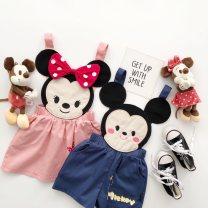 trousers Other / other neutral 90cm,100cm,110cm,120cm,130cm Mila suspenders big head blue small, Mila suspender skirt big head pink small, Mila suspender skirt big head pink small, Mila suspender trousers big head blue small summer shorts There are models in the real shooting rompers middle-waisted