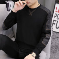 Sweater Youth fashion Chylirn / Qian Liang 165/M 170/L 175/XL 180/XXL 185/3XL 190/4XL Solid color Socket routine Crew neck autumn Slim fit leisure time youth tide routine Cotton wool Cotton 95% polyurethane elastic fiber (spandex) 5% cotton printing No iron treatment Autumn of 2019 Save pocket