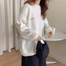 Sweater / sweater Winter 2016 White, cyan, yellow, orange, pink M,L,XL,2XL Long sleeves routine Socket singleton  routine Crew neck easy commute routine letter 18-24 years old 71% (inclusive) - 80% (inclusive) cotton printing cotton