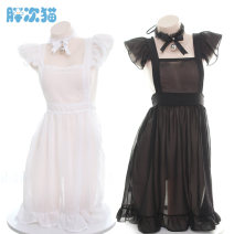 Nightdress Other / other White, black Average size sexy Leisure home Solid color youth S0425