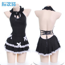 Nightdress Other / other black Average size sexy Sleeveless Leisure home Short skirt youth Polyester (polyester) S0426