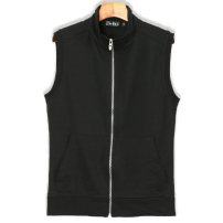 Vest / vest Youth fashion Others M,L,XL,2XL,3XL Other leisure Self cultivation Vest thin spring stand collar youth 2021 tide Solid color zipper cotton No iron treatment Zipper decoration Three dimensional bag 70% (inclusive) - 79% (inclusive)