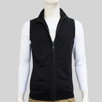 Vest / vest Fashion City Others S,M,L,XL,2XL,3XL,4XL White, light gray, black, sky blue, coffee, black cap, sky blue cap, coffee cap, light gray cap, white cap Other leisure Self cultivation Vest thin spring stand collar youth 2021 tide Solid color zipper Cloth hem cotton No iron treatment Fleece