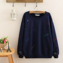 Women's large Spring 2021 Red, Navy Large XL, large XXL, large XXL, large XXXXL, large XXXXL Sweater / sweater singleton  commute easy moderate Socket Long sleeves other Korean version Crew neck Medium length other routine 81% (inclusive) - 90% (inclusive)