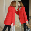 Cotton padded clothes Red, black, caramel, red short collar, black short collar, off white short collar, yellow short collar M,L,XL,2XL,3XL Winter 2020 Other / other Medium length Long sleeves thickening zipper commute Hood routine Self cultivation Solid color Korean version 96% and above