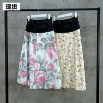 skirt Summer 2020 Middle-skirt street Natural waist other other Type A More than 95% polyester fiber Europe and America