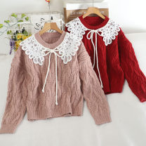 Wool knitwear Autumn 2020 Average size Pink, coffee, red, black, white Long sleeves singleton  Socket other 30% and below Regular routine commute easy routine Solid color Socket Korean version 18-24 years old