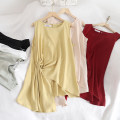 Lace / Chiffon Summer of 2019 Red, black, white, apricot, light green, yellow Average size Sleeveless commute Socket Two piece set easy Medium length Crew neck Solid color 18-24 years old Korean version